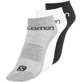 Salomon Life Chaussettes 3 Pack, white/black/grey melange
